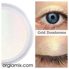 Gold Duochrome Eyeshadow Effects from Orglamix. Shop more products from Orglamix on Wanelo. Duochrome Eyeshadow, Mineral Eyeshadow, Mineral Cosmetics, Eyeshadows, Natural Glow, Natural Makeup, Clean Makeup, Eye Makeup