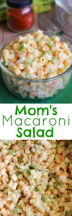 I originally posted this recipe back in 2012 and it was long overdue for some updated pics. With Memorial Day coming up and a lot of ... Healthy Cooking, Cooking Recipes, Healthy Recipes, Best Macaroni Salad, Macaroni Salads, Macaroni Salad With Shrimp, Great Recipes, Dinner Recipes, Valeur Nutritive