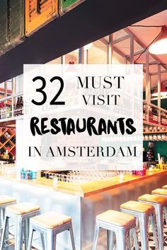 "There are many restaurants in Amsterdam. Want to know which ones are must visit ones? Read the list on http://www.yourlittleblackbook.me Planning a trip to Amsterdam? Check http://www.yourlittleblackbook.me & download ""The Amsterdam City Guide app"" for Android & iOs with over 550 hotspots: https://itunes.apple.com/us/app/amsterdam-cityguide-yourlbb/id1066913884?mt=8 or https://play.google.com/store/apps/details?id=com.app.r3914JB"