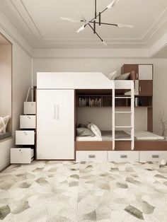 Loft Beds For Small Rooms, Cool Loft Beds, Bed For Girls Room, Modern Bunk Beds, Tiny Bedrooms, Bunk Bed Rooms, Loft Style Bedroom, Small Room Design Bedroom, Room Ideas Bedroom