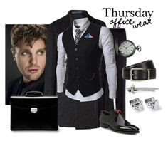 """""""Set #1557 - Thursday Mason"""" by the-walking-doctor ❤ liked on Polyvore featuring Autograph, Burberry, TheLees, Etro, Waltham, HUGO, Alexander McQueen, Dunhill, Asprey and Corthay"""