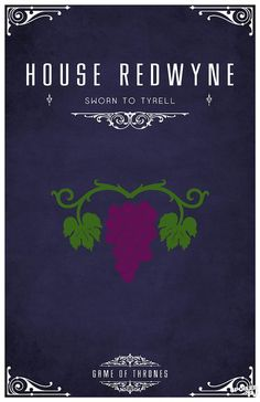 House Redwyne. Game of Thrones house sigils by Tom Gateley. http://www.flickr.com/photos/liquidsouldesign/sets/72157627410677518/