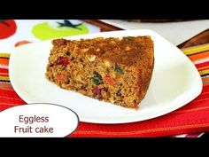 Eggless christmas fruit cake recipe with video & photos. Soft, moist, flavorful &delicious fruit cake made without egg. A beginners' recipe to try! Eggless Fresh Fruit Cake Recipe, Eggless Dates Cake Recipe, Tea Cakes, Fruit Cakes, Eggless Baking, Dessert For Two, Delicious Fruit, Pastry Cake, Christmas Desserts