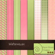 Watermelon  - Free Digital Papers from Paper Street Designs