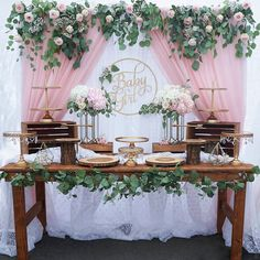 40 Best Baby Shower Ideas To Celebrate Mother Candidate 2019 Page 16 of 42 Boho Baby Shower, Baby Shower Floral, Cute Baby Shower Ideas, Baby Girl Shower Themes, Beautiful Baby Shower, Girl Baby Shower Decorations, Baby Shower Gender Reveal, Baby Shower Balloon Ideas, Birthday Table Decorations