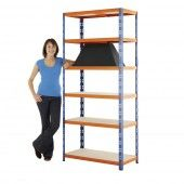 Max 2 heavy duty shelving, great for use in workshops and warehouses, 6 decks holding at least 400kg each, available in a variety of sizes.