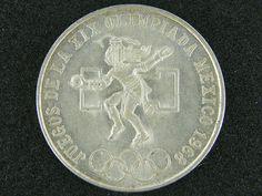 MEXICO 25 CENT  1968  SILVER COIN   OP 945 silver coins , mexican silver coins,  ,silver bullion coins