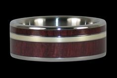Purple Heart Wood and Gold Titanium Rings Valentines Day For Men, Purple Heart Wood, Titanium Rings For Men, Military Men, Gold Wood, Deep Purple, Gold Bands, Green And Gold, Dog Bowls
