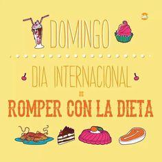 Feliz domingo a todos! Día internacional de romper la dieta :)