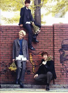 Ren, Minhyun, and JR - Ceci Magazine October Issue '13