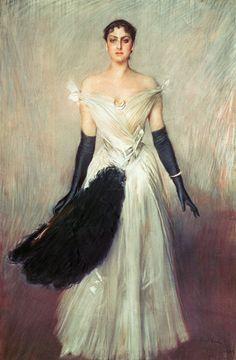 giovanni boldini, portrait of a lady.