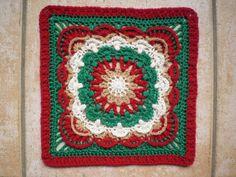 """Ravelry: Fan Dance 12"""" Afghan Block pattern by Polly Plum"""