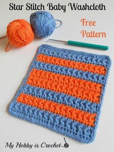 My Hobby Is Crochet: Crochet Star Stitch Variation - Star Stitch Baby Washcloth / Dishcloth – Free Crochet Pattern with Tutorial