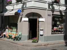 Love this tiny cafe in old town Riga!