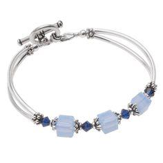 Retired - Blue Colette Bridesmaid Bracelet   Beadaholique
