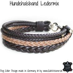 Luxus Hundehalsband im Ledermix