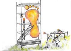 Equipo plantilla-maker. Retoque Ilustraciones para un blog. Era sobre pies y se me ocurrio hacer un equipo de 'plantilla-maker' Acuarela. (watercolor)