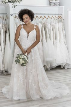 A Line Bridal Gowns, A Line Gown, Sincerity Bridal, Chantilly Lace, Nude Color, On Your Wedding Day, Floral Lace, Feminine, Glamour