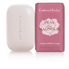 Pear & Pink Magnolia Triple Milled Soap from www.crabtree-evelyn.com.au