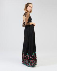 Vestido de mujer Surkana largo con mangas de tul 8421767e7adf