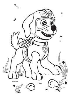 kolorowanka Psi Patrol - malowanka dla dzieci nr 9