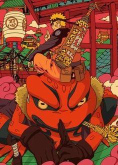 Metal Poster Naruto And Gamakichi