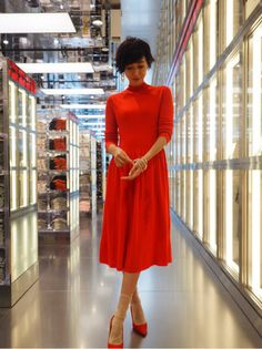 Maki Tamaru - Uniqlo U Red Dress
