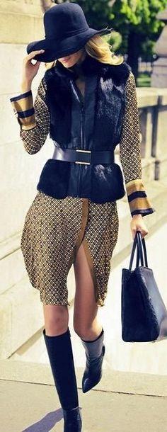 Street fashion: Julia Stegner Hat style LBV