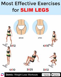 Workout For Slim Legs - Yoga Fitness Lose Thigh Fat, Lose Belly Fat, Lose Fat, Fat To Fit, Slim Legs Workout, Fat Workout, Workout Women, Cycling Workout, Skinnier Legs Workout