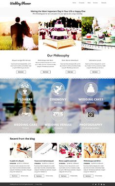 Wedding Planner #website #template. #themes #business #responsive