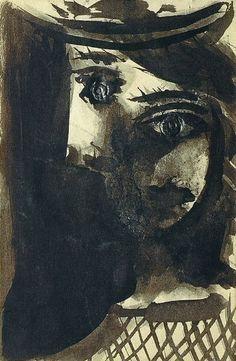 "Pablo Picasso - ""Portrait of Dora Maar with Hat"". 1939"