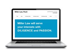 Web design by Think Studio for a law firm.
