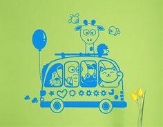 . Decorar habitaciones infantiles con vinilos De excursión con el autobús 04411 - #vinilosinfantiles, #vinilos bebés, #vinilos niños