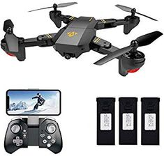 Learned Drone X Pro 1080p Hd Camera Wifi App Fpv Foldable Wide-angle 4* Batteries Elegant Appearance Radio Control & Control Line