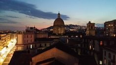 Napoli, rooftop sunset