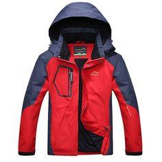 26.64$  Watch now - http://alinnq.shopchina.info/go.php?t=32799479641 - Men Sports Jacket For Camping Ski Trekking Winter Outdoor Softshell Jackets Waterproof Windbreaker Thermal Hiking Coats    #buymethat