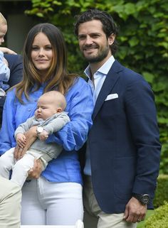 Madeleine, Christopher O'Neil, Princess Leonore, Prince Nicolas, Prince Carl Philip, Princess Sofia, Prince Alexander attended the photo session for family summer portraits at Solliden summer Palace in Oland. (The royal family had invited some photographers to Solliden on Friday 15th July to take photos of the family)