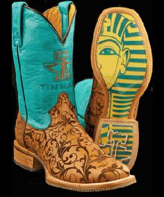 Tin Haul Women's Damask with King Tut sole Boot