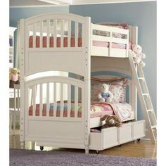Pawsitively Yours Wood Bunk Bed