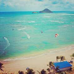 A view from above #kitesurfing #cbaystlucia Coconut Bay, St. Lucia