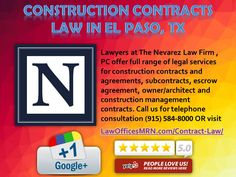 Construction Contracts Law in El Paso, TX