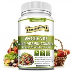 Veggie Vite Multi-Vitamin Complex - It contains 26 vitamins and minerals together. It helps to improve eye vision, immune system, bone health, memory and many more. Complete Nutrition, Diet And Nutrition, Vitamin Complex, Multi Vitamin, Gelatin Ingredients, Herbal Store, Health And Wellness, Health Fitness, Green Veggies