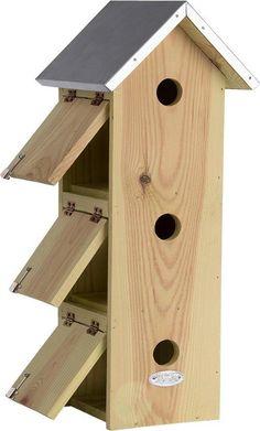 Homemade Bird Houses, Bird Houses Diy, Bird House Plans Free, Nest Box, Esschert Design, Nesting Boxes, Birdhouse, Shelters, Squirrel