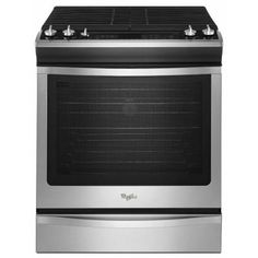 Whirlpool 5.8 cu. ft. Slide-In Gas Range with Self-Cleaning Convection Oven in Stainless Steel-WEG730H0DS - The Home Depot