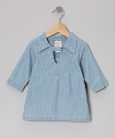 Another great find on #zulily! Pale Chambray Collared Top - Toddler & Girls by baobab #zulilyfinds