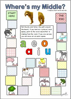 Great #literacy idea! Free printable reading games for kids.