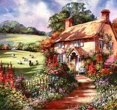Precott Cottage on Whileaway Lane by Jim Mitchell