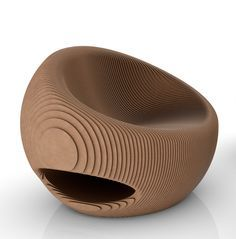 Canyon Collection – eco-friendly furniture by Giancarlo Zema It is not quite mid century modern, however is features the polymorphic look Cardboard Chair, Cardboard Design, Cardboard Furniture, Origami Furniture, Eco Furniture, Furniture Design, Parametric Design, Chair Design, Woodworking