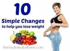 10 easy changes you can make to your diet and lifestyle to help you lose weight.