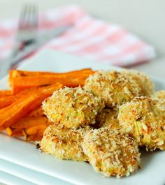 Homemade Chicken and Veggie Nuggets. Gluten free and dairy free.